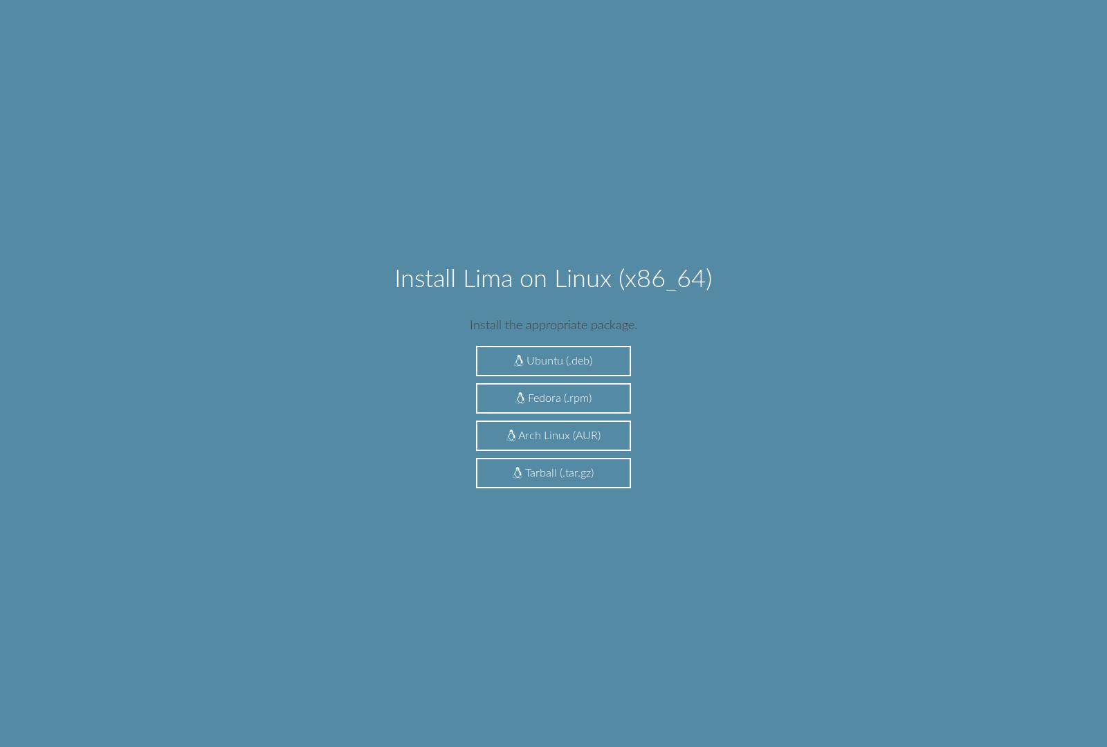 Lima Linux